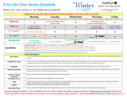 See our group fitness schedule