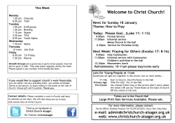 notices - Christ Church, Alsager
