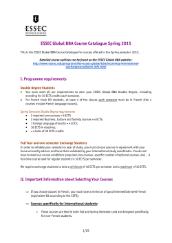 Course Catalogue 2015 - ESSEC Business School