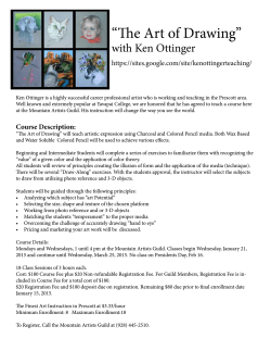 """The Art of Drawing"" with Ken Ottinger"