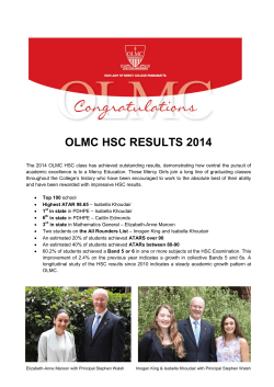 OLMC HSC RESULTS 2014 - Our Lady of Mercy College