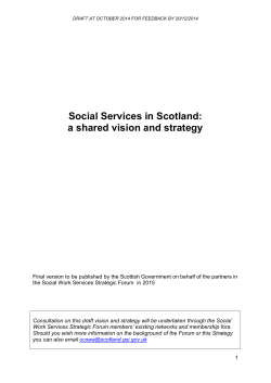Social Services in Scotland: a shared vision and strategy