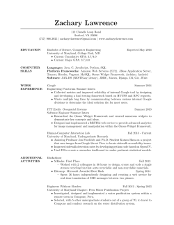 View Resume - Zachary Lawrence