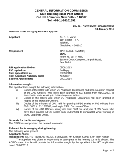 Decision No. CIC/BS/A/2014/000287/6753 dated 13-01