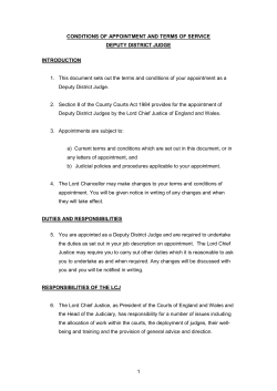 DDJ final terms of appointment - Judicial Appointments Commission