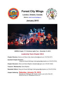 Newsletter - Forest City Wings