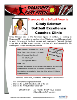 Coaches Clinic Cindy Bristow Softball Excellence