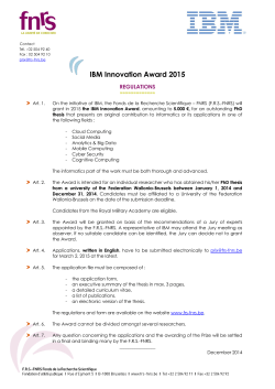 IBM Innovation Award 2015
