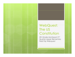 WebQuest: The US Constitution