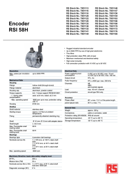 Encoder RSI 58H - RS Components International