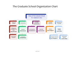 The Graduate School Organization Chart