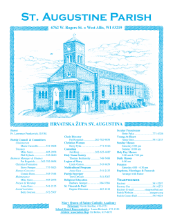 Bulletin - St. Augustine Catholic Church