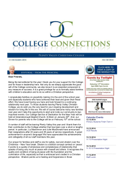 Download file - Plenty Valley Christian College
