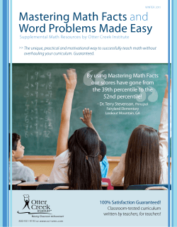 Mastering Math Facts and Word Problems Made Easy - oci