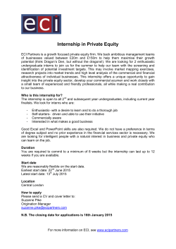 Internship in Private Equity