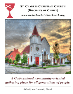 A God-centered, community-oriented gathering place for all