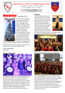 Newsletter - Gonerby Hill Foot Church of England Primary School