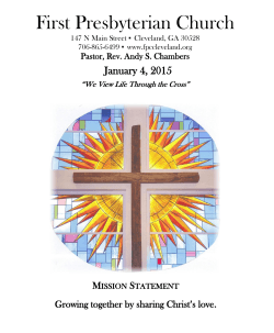 01.04.15 Bulletin - First Presbyterian Church of Cleveland