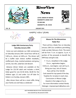 RiverView News - Marinette Moose Lodge 2327