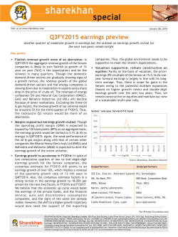 Q3FY2015 earnings preview
