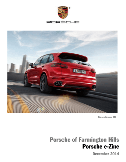 December 2014 - Porsche of Farmington Hills