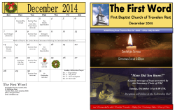 December 2014 - First Baptist Church Travelers Rest South Carolina