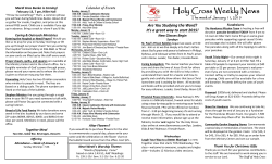 Weekly Discipler - Holy Cross Lutheran Church