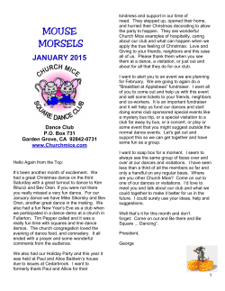 MOUSE MORSELS - Church Mice Square Dance Club