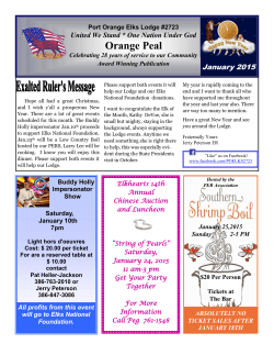 january er message - Port Orange Elks Lodge # 2723