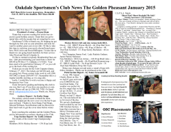 January 2015 - oakdale sportsmens club