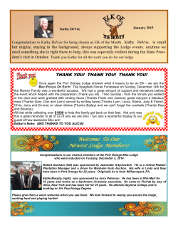 january elk of month - Port Orange Elks Lodge 2723