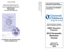 2015 Paramedic Refresher Course