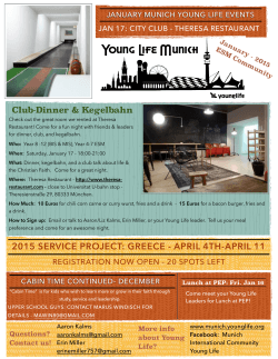 ESM club flyer- January - Munich International Community Young Life
