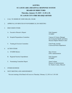 Board of Directors January 15, 2015, Meeting Packet