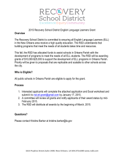 2015 ELL Grant Application - Louisiana Department of Education