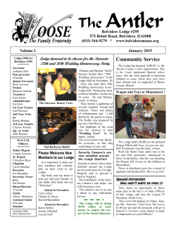Moose Newsletter January