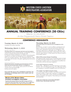 ANNUAL TRAINING CONFERENCE - Washington Association of