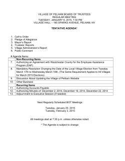 Board of Trustees Tentative Agenda Cover 1-6-15