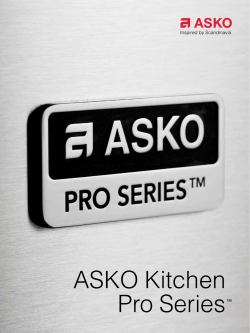 ASKO Kitchen Pro Series