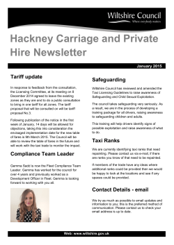 hackney carriage and private hire newsletter