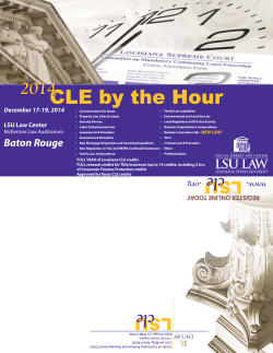 CLE by the Hour - Louisiana State University