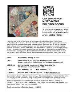 caa workshop: mixed-media folding books