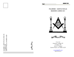 FILLMORE - SANTA PAULA MASONIC LODGE 291