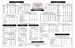 UMass At A Glance 2014-2015