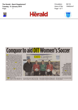 DIT Womens Soccer secure sponsorship deal with Conquer