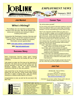 job talk newsletter