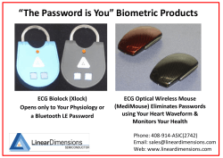 Biometric Products - Linear Dimensions Semiconductor