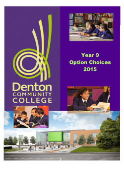 Year 9 Option Choices 2015