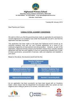 Academy Status Consultation Letter