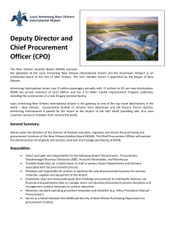 Deputy Director and Chief Procurement Officer (CPO)